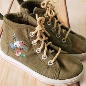 Carter's Green Embroidered Hummingbird Sneakers 7